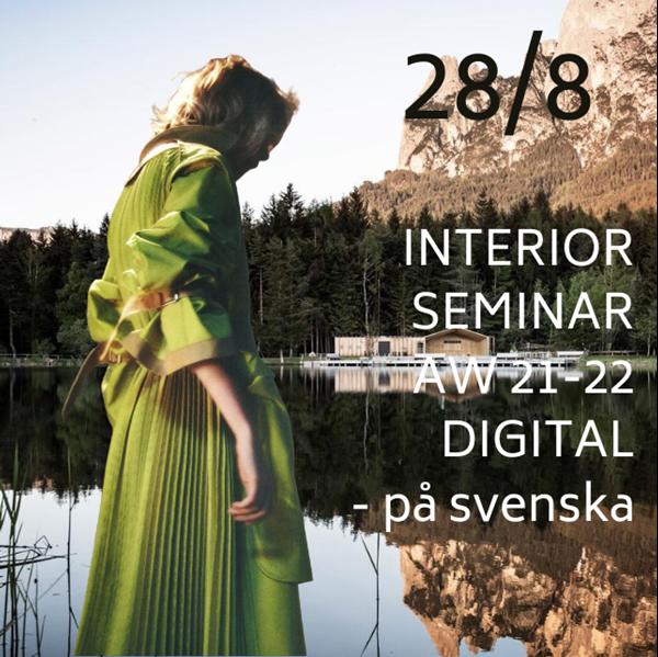 Picture of Online Interiör Seminarie Fredag 28/8 - SVE