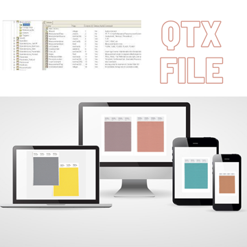 PANTONE digital colour QTX format